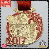 Nuevo diseño 2017 de la medalla de oro del año 3D del gallo