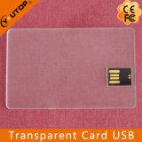 Lecteur flash USB 4-64G (YT-3114-02) de crédit transparent/nommée carte
