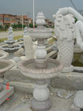 Fonte estratificado da pedra 3 de mármore naturais para o jardim & o Landcaping