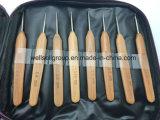 Lanas de aguja de tejer de bambú ganchillo anzuelos calados