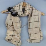 Проверенный шарф маркизета, Striped шарф полиэфира для шалей вспомогательного оборудования способа женщин