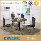 販売のための2015現代円形の人工的な大理石のダイニングテーブル