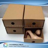 Gewölbtes Papier-Fach-Verpackungs-Geschenk-Kleid-Kleidung-Schuh-Kasten (xc-aps-005b)