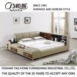2017 het Recentste Zachte Bed van het Leer van de Stijl van het Ontwerp Japanse en Koreaanse Moderne Echte voor Slaapkamer meubilair-Fb8048b