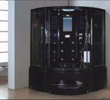 sauna de vapeur de noir de secteur de 1500mm avec le jacuzzi et le Tvdvd (AT-GT0907-1)