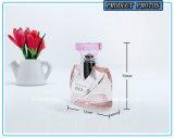 女性50mlのためのピンク香水のガラススプレーのびん