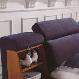 Korea-Art-modernes echtes Leder-Sofa-Bett für Wohnzimmer-Möbel - Fb8043A