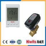 "Hiwits Brass 1/2 ""-4"" Válvula de água automática de controle de temperatura de duas vias"