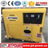 単一フェーズの携帯用発電機5.5kVAの無声Air-Cooledディーゼル発電機