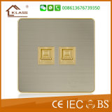 Interruptor eléctrico de la pared 1-G de la alta calidad gris del color
