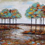 Peinture à l'huile abstraite pour des arbres