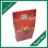 Deux bougies de sac de papier avec le guichet clair (FP8039127)