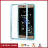 Cas ultra-mince transparent neuf de téléphone mobile de TPU+PC pour Huawei P8