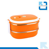 2-laag de Roestvrij staal Geïsoleerdea Container van het Voedsel van de Dozen van de Lunch Bento