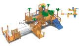 큰 나무로 되는 옥외 운동장 장비 (KYV-147-1)