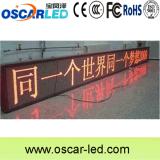 P10 옥외 빨간색 메시지 LED 표시