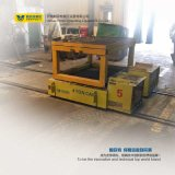 A plataforma cilíndrica pesada dos materiais automatizou o trole de transferência da pálete