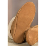 das mulheres de alta Soft Top Leather Sole carneiro Slippers