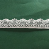 Шнурок утески узкой части волнистой картины свежей сливк конструкции белый