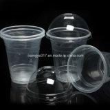 PP Clear 360ml chá de leite e suco de plástico com tampa