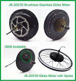Jb-205-35 48V motores sin cepillo del eje de Ebike de 1000 vatios