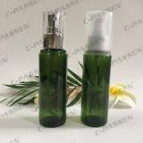 botella verde del animal doméstico de 100ml 150ml con la bomba plástica del aerosol para el empaquetado de los cosméticos (PPC-PB-078)
