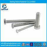 O parafuso pesado inoxidável do hexágono do aço DIN933 DIN931 ASME de A2 A4 com ISO da porca Certificated