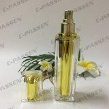 Botella de acrílico del nuevo oro de la llegada con la bomba del aerosol para el empaquetado del cosmético (PPC-ALB-061)