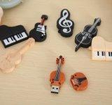 Movimentação creativa do polegar do violino do PVC da vara do USB dos desenhos animados do modelo da música
