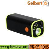 Côté portatif de pouvoir de la torche 12000mAh du chargeur de batterie de téléphone mobile DEL
