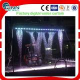 물 쓰기 로고 전시 디지털 물 커튼