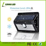 20 luz solar impermeable del sensor de movimiento de la cubierta plástica negra del color del LED 4W LED