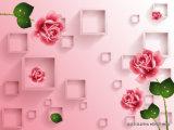 Самые лучшие цены продают розовый Rose оптом для домашней картины украшения на картине стены