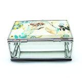 Новая китайская стеклянная изготовленный на заказ коробка Hx-7097 ювелирных изделий кольца бархата