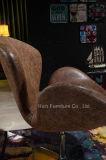 디자이너 최신 판매 여가 금속 회전대 백조 의자