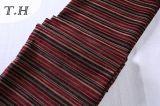 Chenille rouge matériel de couverture de sofa (FTH32140)