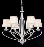 Lámpara moderna de la exportación de Rusia del llano de la cortina blanca superior de la tela