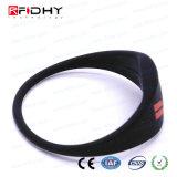 MIFARE plus schwarzen RFID SilikonWristband in der Uhr-Form