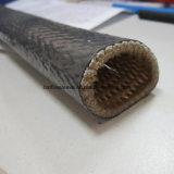 Chemise résistante thermique protectrice de fibre de boyau enduit de silicone en verre