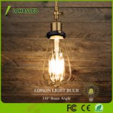 Luz de bulbo morna do filamento do diodo emissor de luz do branco 2W 4W 6W 8W Edison de St64 Dimmable