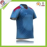 新しいデザイン人のコオロギのチームジャージーはインドのコオロギのポロシャツの昇華させた印刷をカスタマイズした