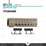 """Tacband Tactische Keymod Handguard 7 de """" Vrije Aarde van het Spoor van de Vlotter W/Picatinny Hoogste Vlakke Donkere"""