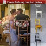 De hete Stoel van Tiffany van de Partij van het Aluminium van het Meubilair van het Hotel van de Verkoop met Kussen voor Huwelijk yc-A200