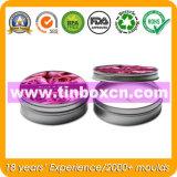 Runder Metallkerze-Halter für Geschenk-Zinn, Kerze-Zinn-Kasten
