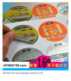 Etiqueta autoadesiva de papel de Cloured