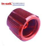Präzision CNC-maschinell bearbeitende Aluminiumplatte mit Rot anodisierte