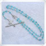 卸し売り数珠は、カトリック教の安い数珠のビードの鎖Nutural投石する瑪瑙のキリスト教の数珠(IOcr363)に