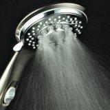特許を取られたオン/オフ休止スイッチが付いている7設定の超贅沢の手持ち型のシャワー・ヘッド(ブラシをかけられたニッケルかクロム)