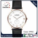 3ATM日本Miyotaの女性の腕時計の男性用ブレスレットの革腕時計(DC-7823)