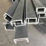 Perfis de pultrusão de FRP de alta resistência, perfil de fibra de vidro, canal de FRP